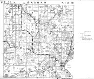 Bashaw Township, Shell Lake, Washburn County 1952